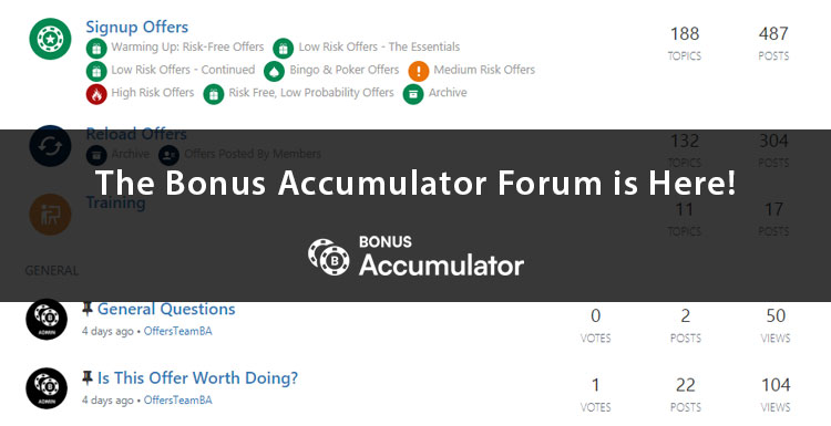 The Bonus Accumulator Forum is here!
